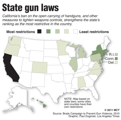 California gun laws are the most restrictive in the U.S. ...