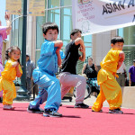 Martial Arts students showcase their talent to the audience at City Hall.