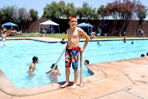 A year later residents and members return to the Southgate Community Pool to enjoy the spring weather.