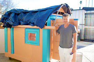 Oakland home-builder constructs recycled shelters for homeless