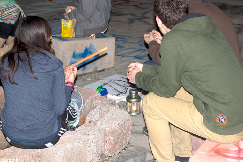 Off-campus bonfire spot symbolizes underground art culture