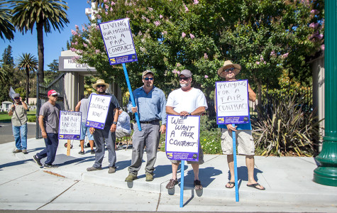 Local union pickets East Bay cemeteries