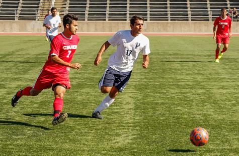 Men's soccer dominates Antelope Valley