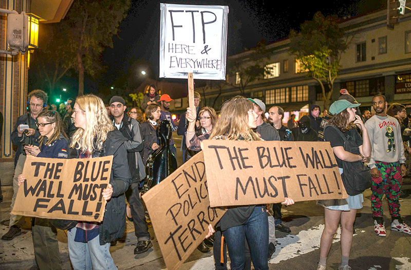 Protesters fill the streets of the Bay Area