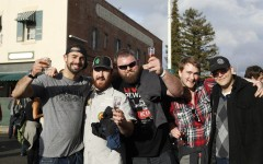 Double IPA Fest goers show off their beers at the Feb. 7 event in downtown Hayward.