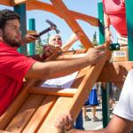 CSUEB students build new playground