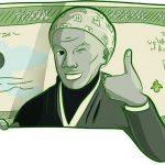 Harriet Tubman shadowed on $20 bill