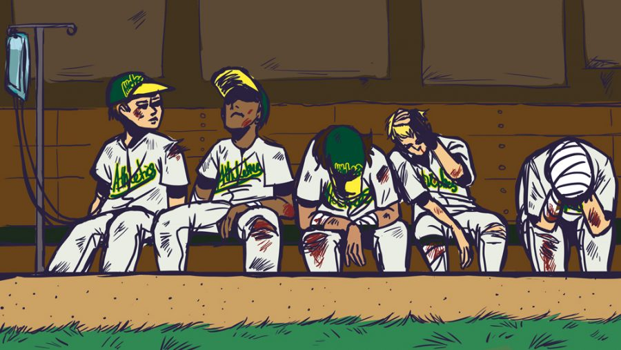 Starting pitching hurts Oakland A's
