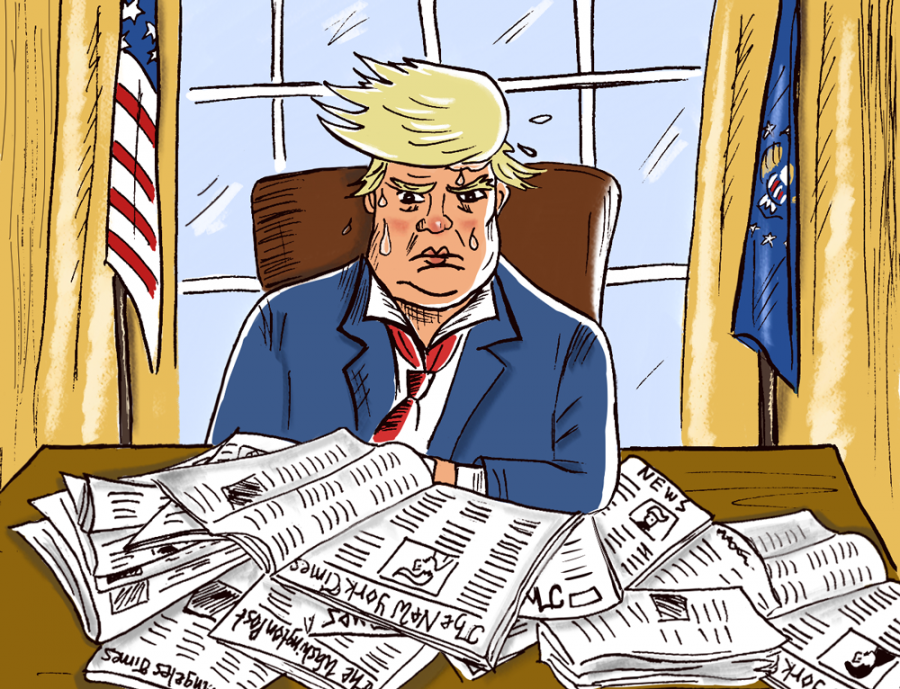 Donald+Trump+bashes+media