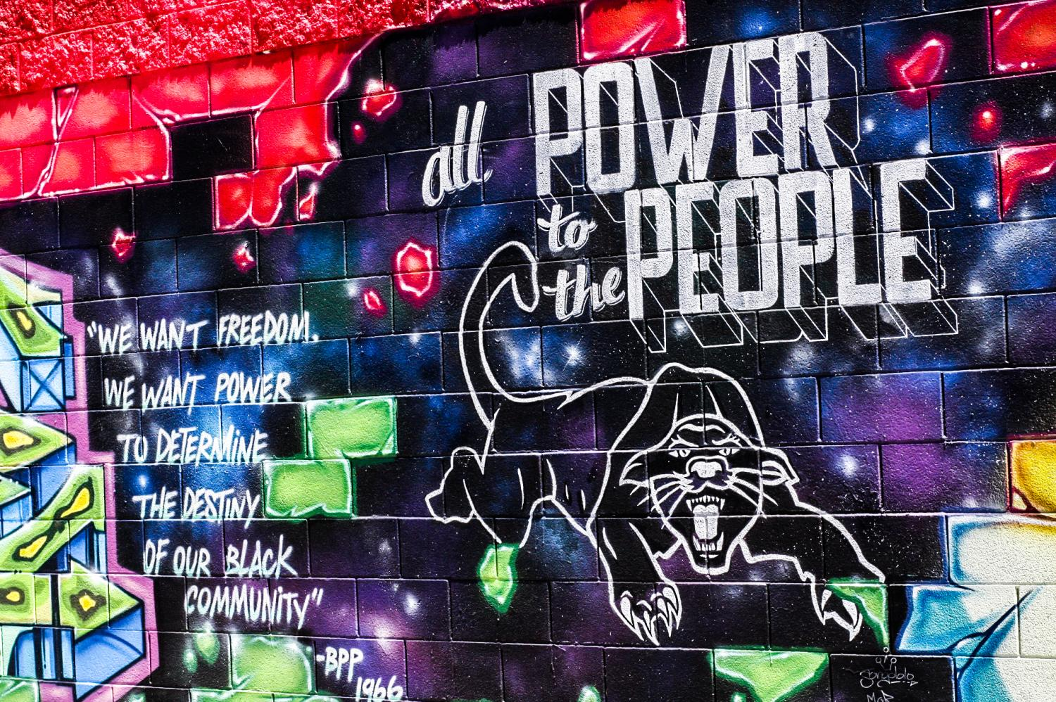 A+powerful+message+taken+from+the+Black+Panther+Party%2C+a+piece+from+the+mural.+2976+Market+St%2C+Oakland%2C+CA%2C+94612.