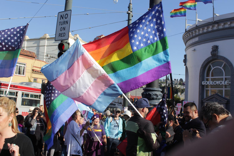 Protests+erupt+in+SF+over+proposed+transgender+military+ban