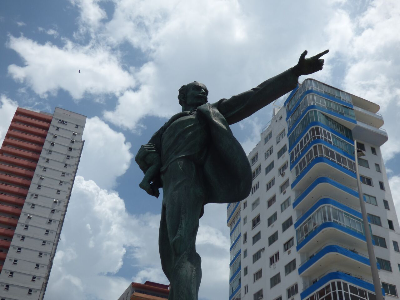 A+statue+of+Jose+Marti+stands+tall+in+Havana%2C+seemingly+larger+than+life+pointing+the+way+towards+the+future.