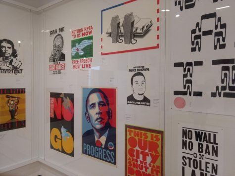 Political posters at the San Francisco Museum of Modern Art.