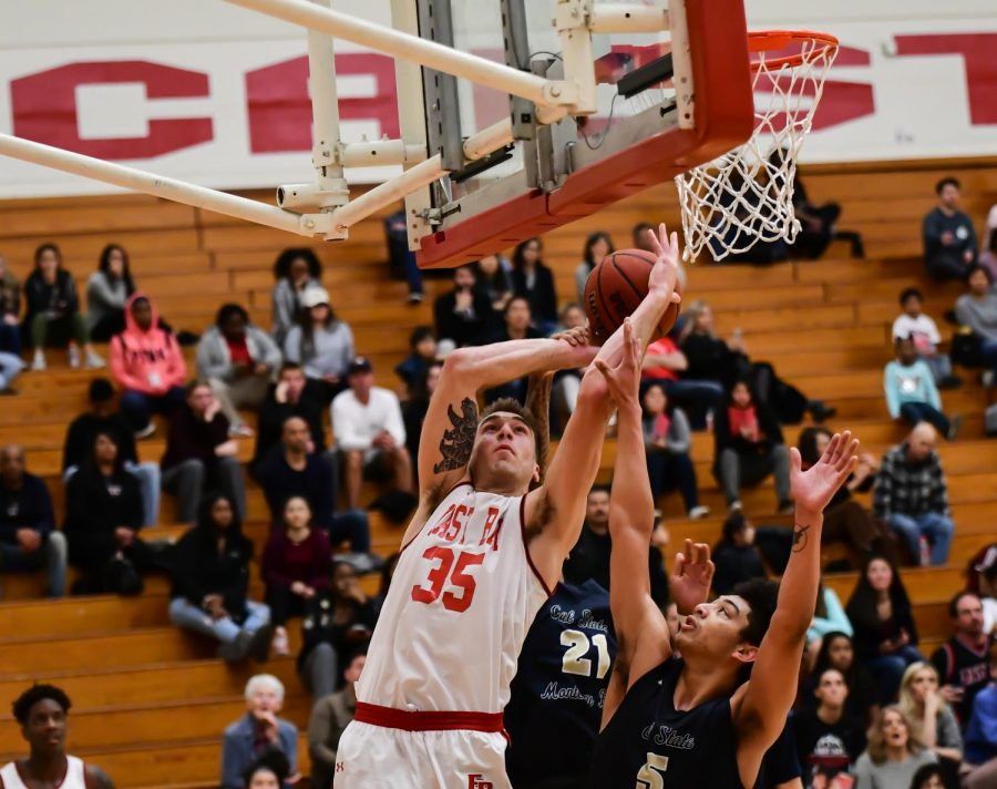 Men's basketball gets a win on senior night