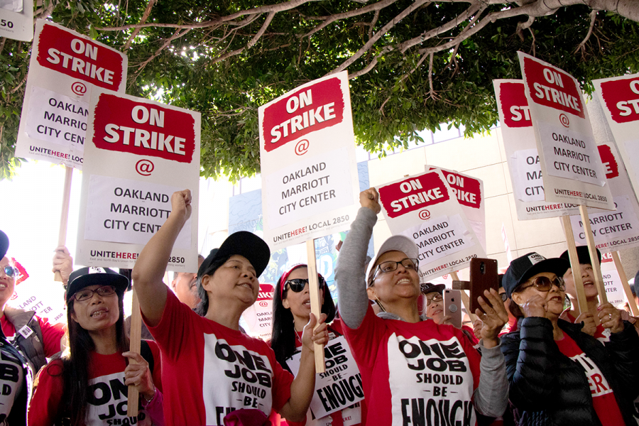 Many+Marriott+workers+have+been+forced+to+take+on+a+second+and+third+job+in+order+to+keep+up+with+rising+expenses.