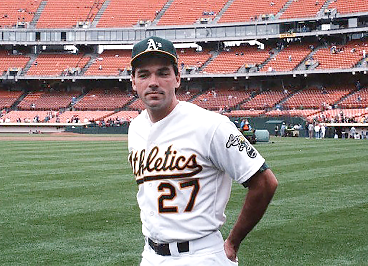 Billy Beane during his playing career with the Oakland A's in 1984.