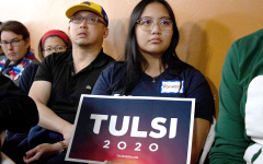 Tulsi Gabbard holds rally in the Bay Area
