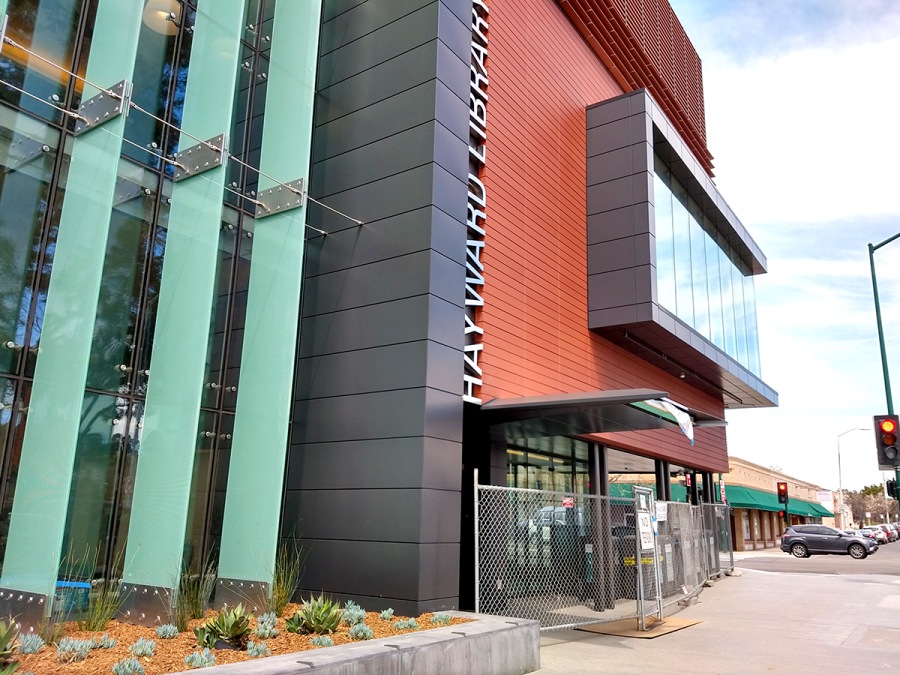 Hayward main library nearly complete
