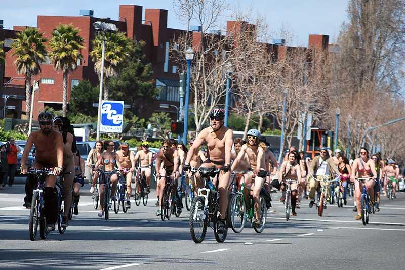 world naked bike ride, san francisco