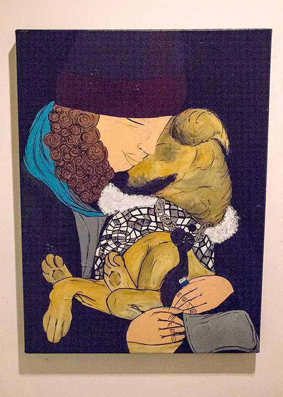 A+homeless+child%E2%80%99s+painting+depicting+the+love+between+the+homeless+and+their+pets.