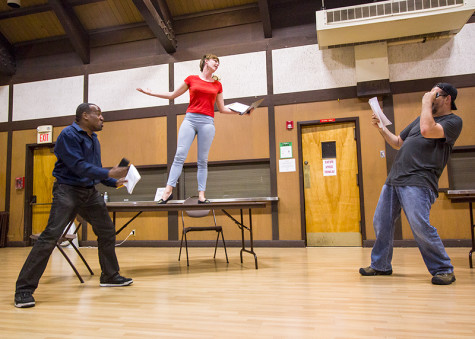 Performers act out their scripts at Douglas Morrison Theatre on Sunday.