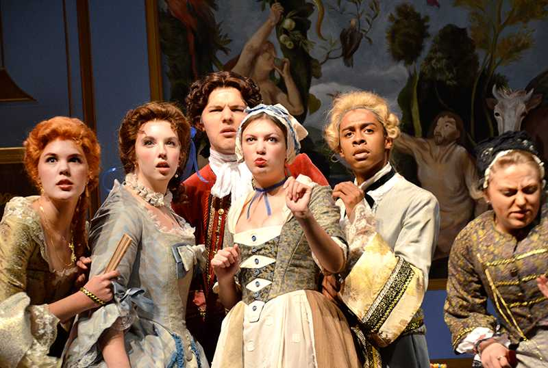Actors+in+CSUEB%E2%80%99s+Tartuffe+pose+during+Friday%E2%80%99s+opening+night.
