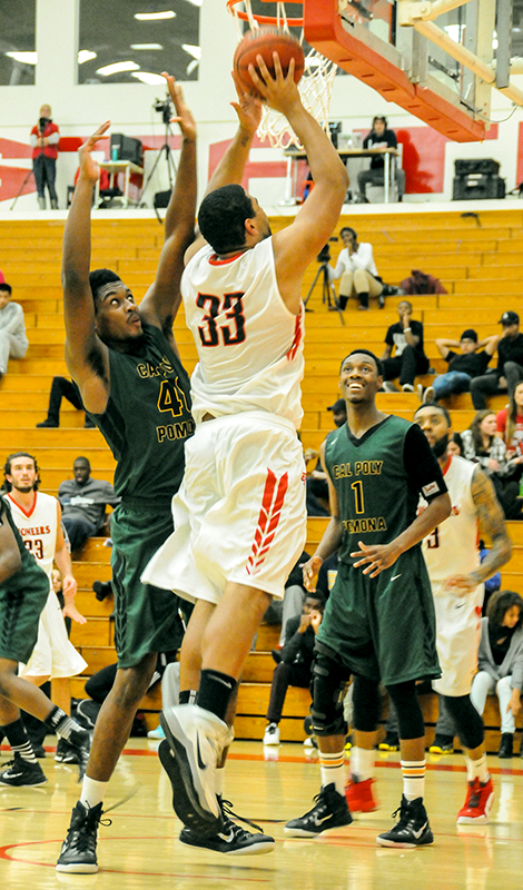 Senior Darrick McIntosh makes a layup.