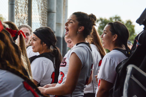 Softball split games with AAU Knights