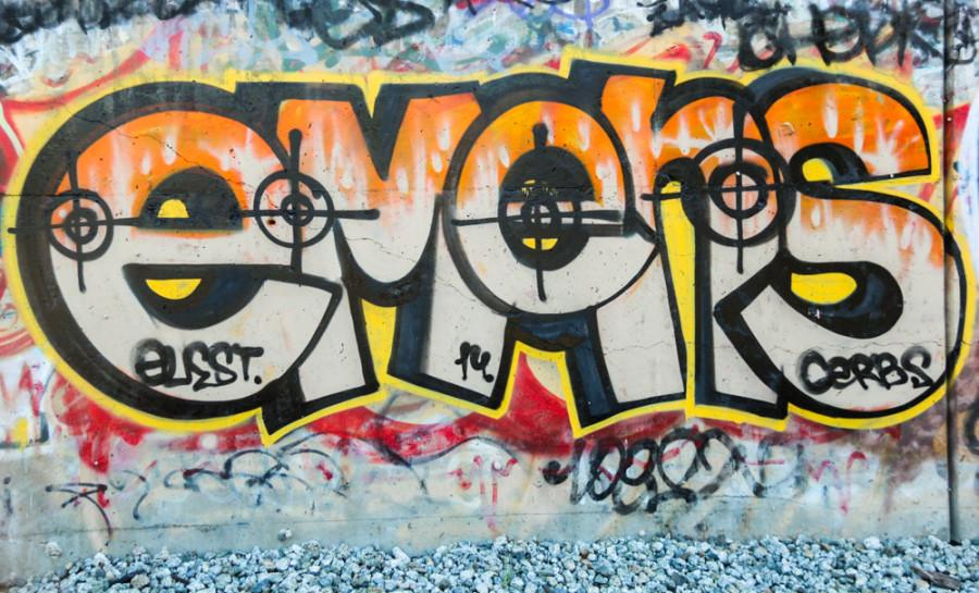 Graffiti on display in the streets of Hayward
