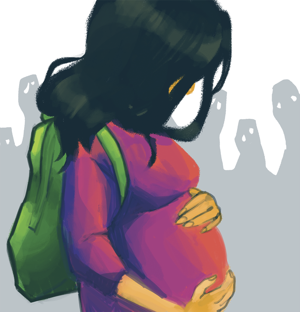 how to tell students you are pregnent