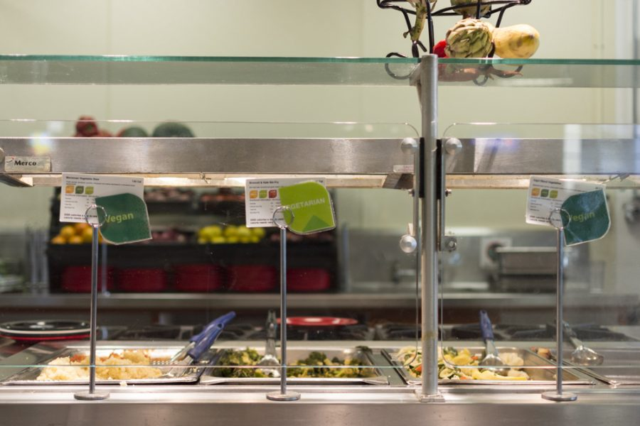 Aramark provides a select number of hot and ready foods for student and staff in the Dining Commons at the CSUEB Hayward Campus in June.