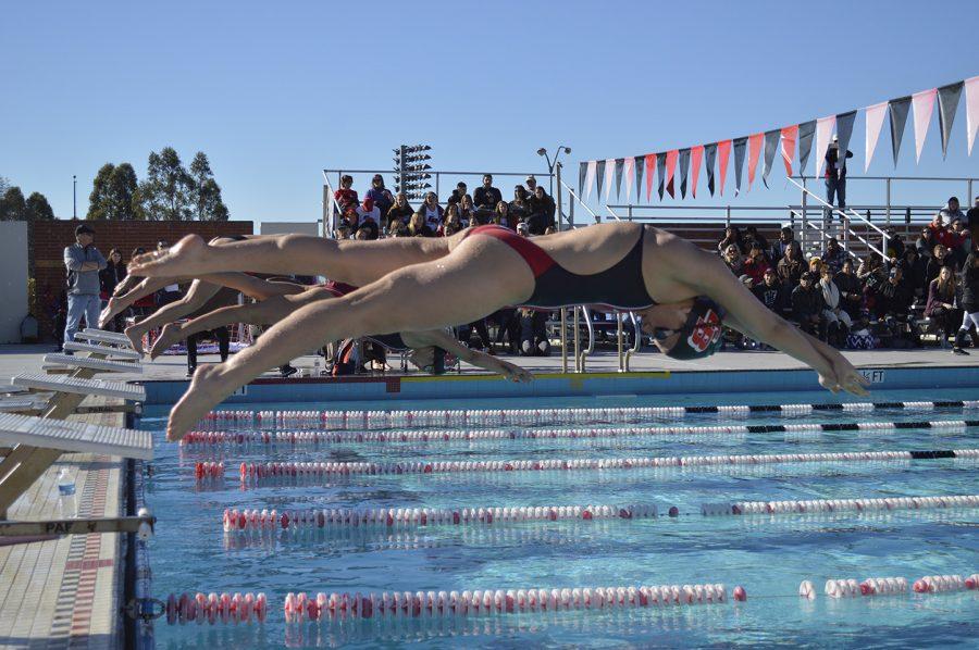 "Swim team wins on ""Senior Day"""