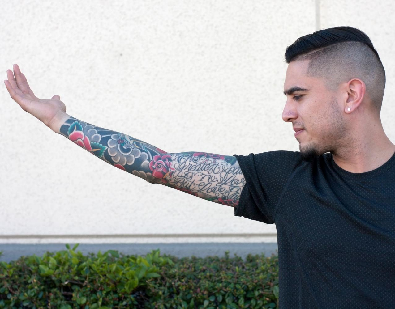 """I run a $33 million stockroom and having tattoos has never affected the skills that I have,"" says Tomas Ledesma."