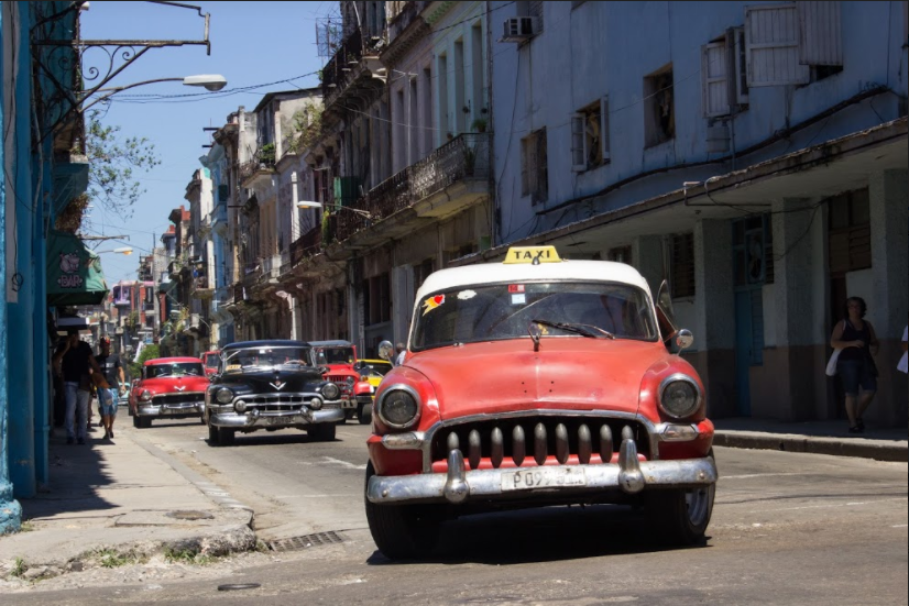 Modification of old cars in Cuba