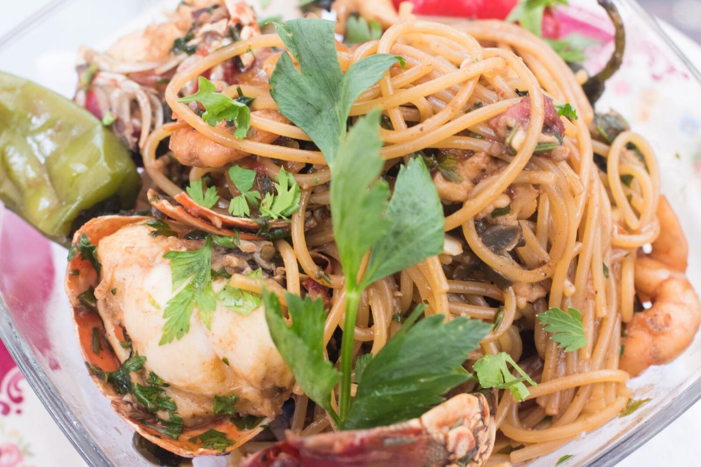 The+lobster+spaghetti+at+Mediterraneo.