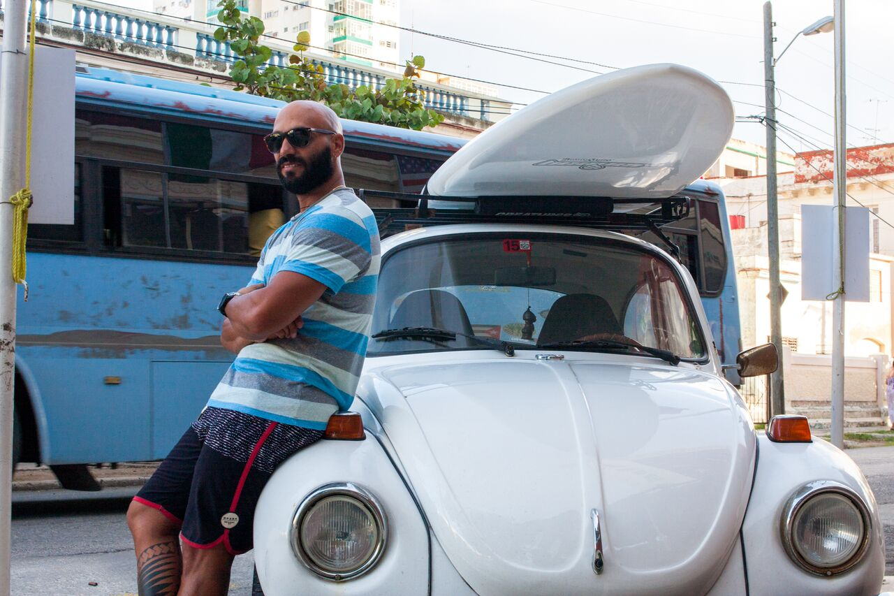 Yuniel+Valderrama+is+an+organizer+of+Havana+Surf+Cuba%2C+a+non-profit+organization+that+receives+and+distributes+surf+supplies+to+local+surfers.