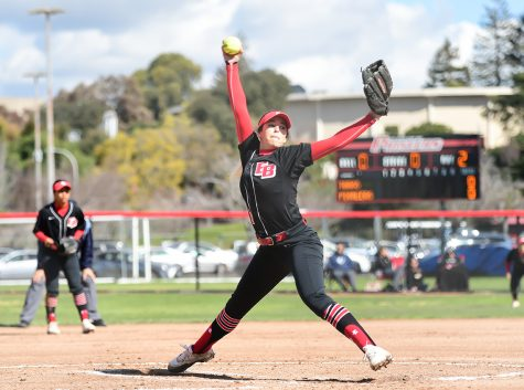 Women's softball splits final home games