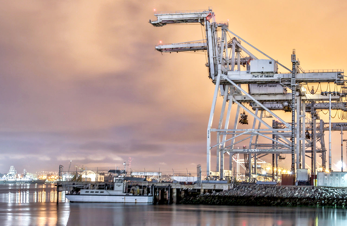 Port of Oakland cranes.
