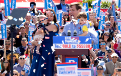 Eric Swalwell hosts hometown rally