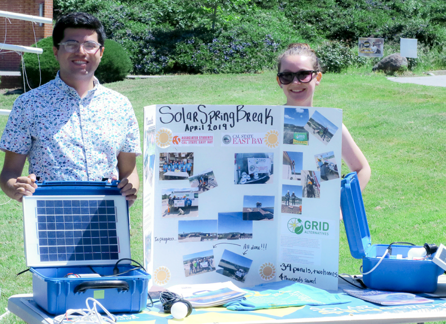 Students+from+the+Social+Impact+Through+Sustainable+Solar+course+at+California+State+University%2C+East+Bay+displayed+their+work+with+building+small-scale+solar+panels+for+personal+use+in+energy-restricted+areas+like+Kenya%2C+Africa.