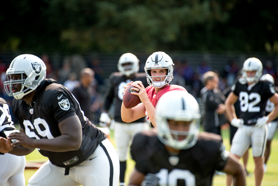 Raiders beat Broncos in season opener