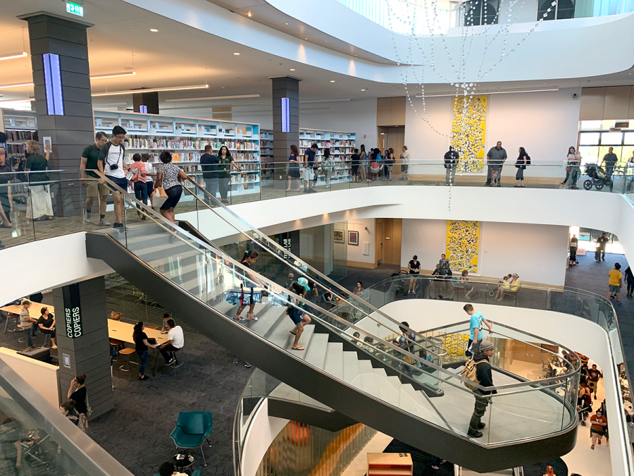 Hayward Public Library opens its doors