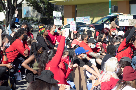 The People's March marches peacefully through Hayward